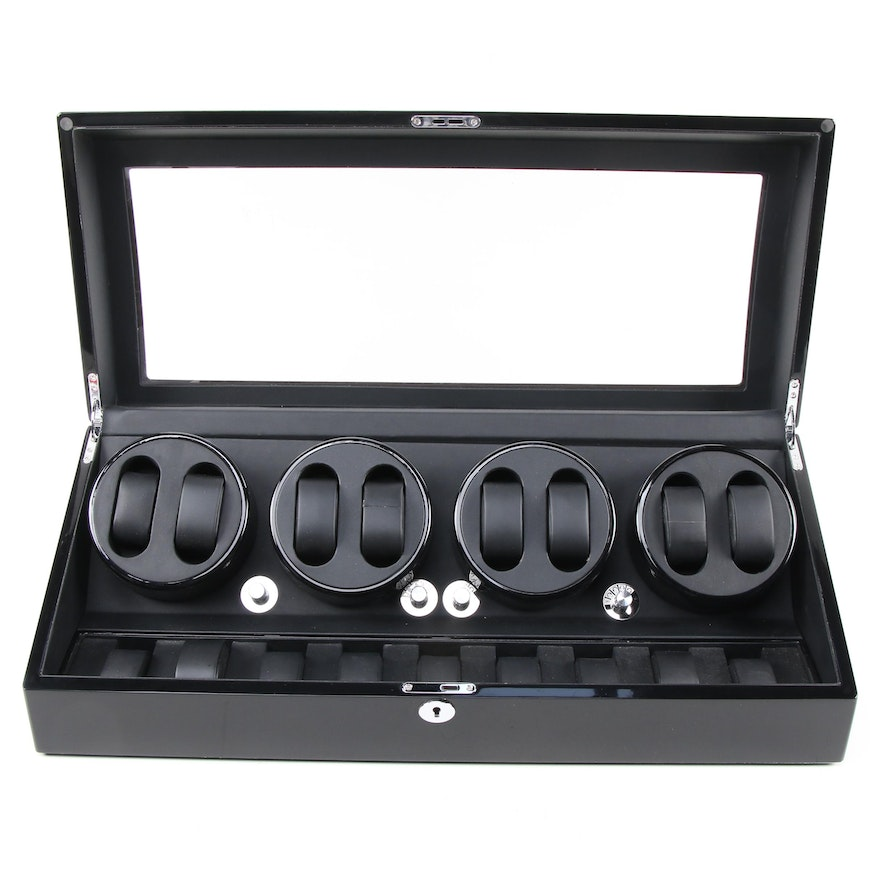 Multi Watch Winder with High Gloss Black Finish