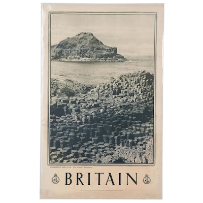 "Great Britain Rotogravure Travel Poster ""Northern Ireland, The Giant's Causeway"""