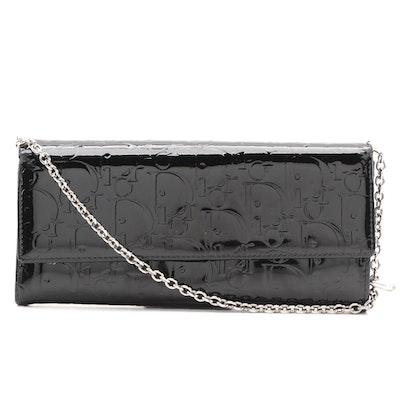 Christian Dior Logo Black Patent Leather WOC