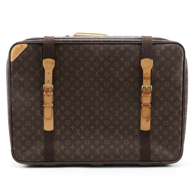 Louis Vuitton Satellite 70 Suitcase in Monogram Canvas and Vachetta Leather Trim