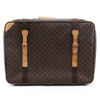 Louis Vuitton Satellite 70 Suitcase in Monogram Canvas and Vachetta Leather Trim