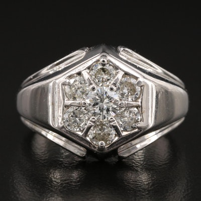 Vintage 14K 1.02 CTW Diamond Ring