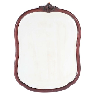 American Mahogany-Stained Birch Mirror, Early 20th Century