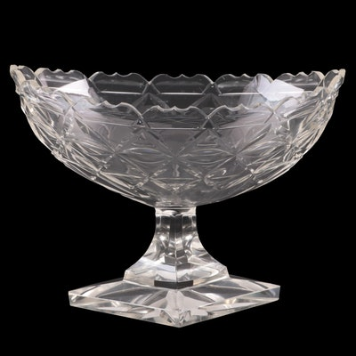 Navette Shaped Glass Compote