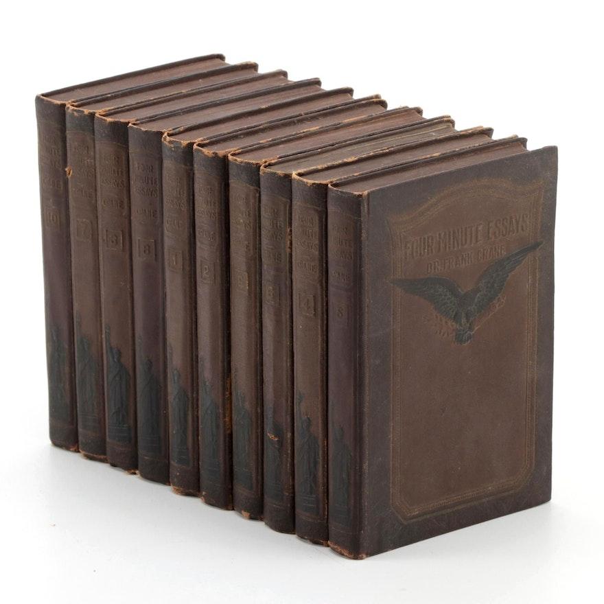 """""""Four Minutes Essays"""" Ten-Volume Set by Dr. Frank Crane, 1919"""
