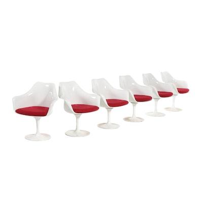 """Six Mid Century Modern """"Tulip"""" Style Armchairs in the Manner of Eero Saarinen"""