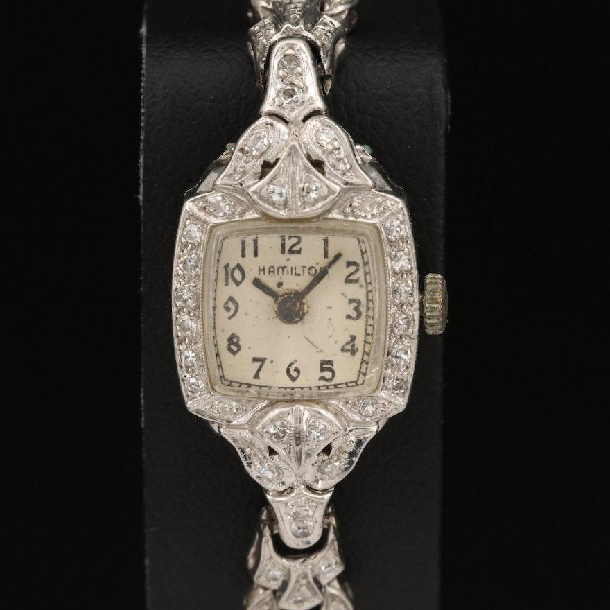 Hamilton 14K and Diamond Wristwatch