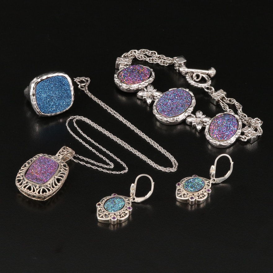 Sterling Silver Druzy Jewelry Selection