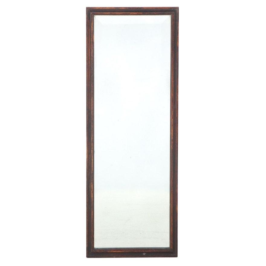 Mahogany Framed Beveled Glass Wall Mirror, Early 20th Century