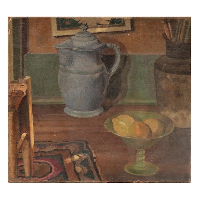 "Reveau Bassett Oil Painting ""Still Life,"" Early 20th Century"