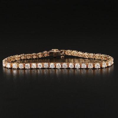 14K 5.25 CTW Diamond Line Bracelet