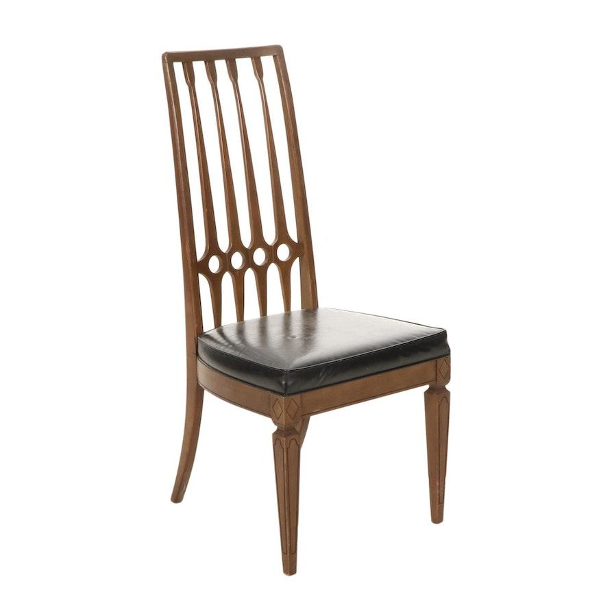 Thomasville Furniture Mid Century Modern Pecan Dining Chair