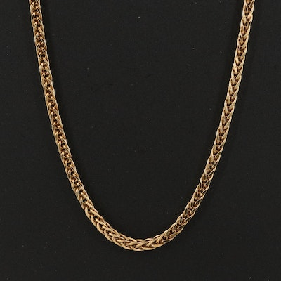 18K Wheat Chain Necklace