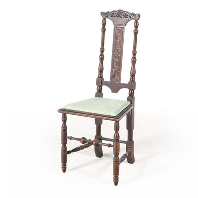 Hastings Jacobean Revival Carved Walnut Side Chair, Late 19th/Early 20th Century