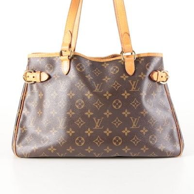 Louis Vuitton Batignolles Horizontal Bag in Monogram Canvas and Vachetta Leather