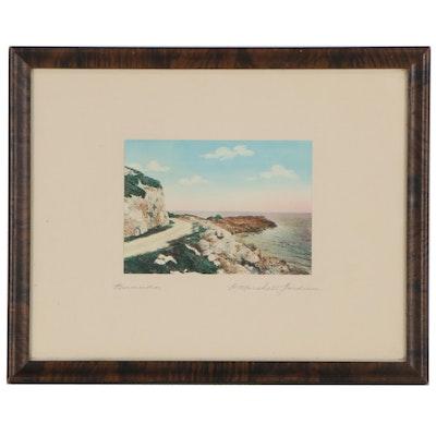 "H. Marshall Gardiner Hand-Colored Silver Gelatin Photograph ""Bermuda"""