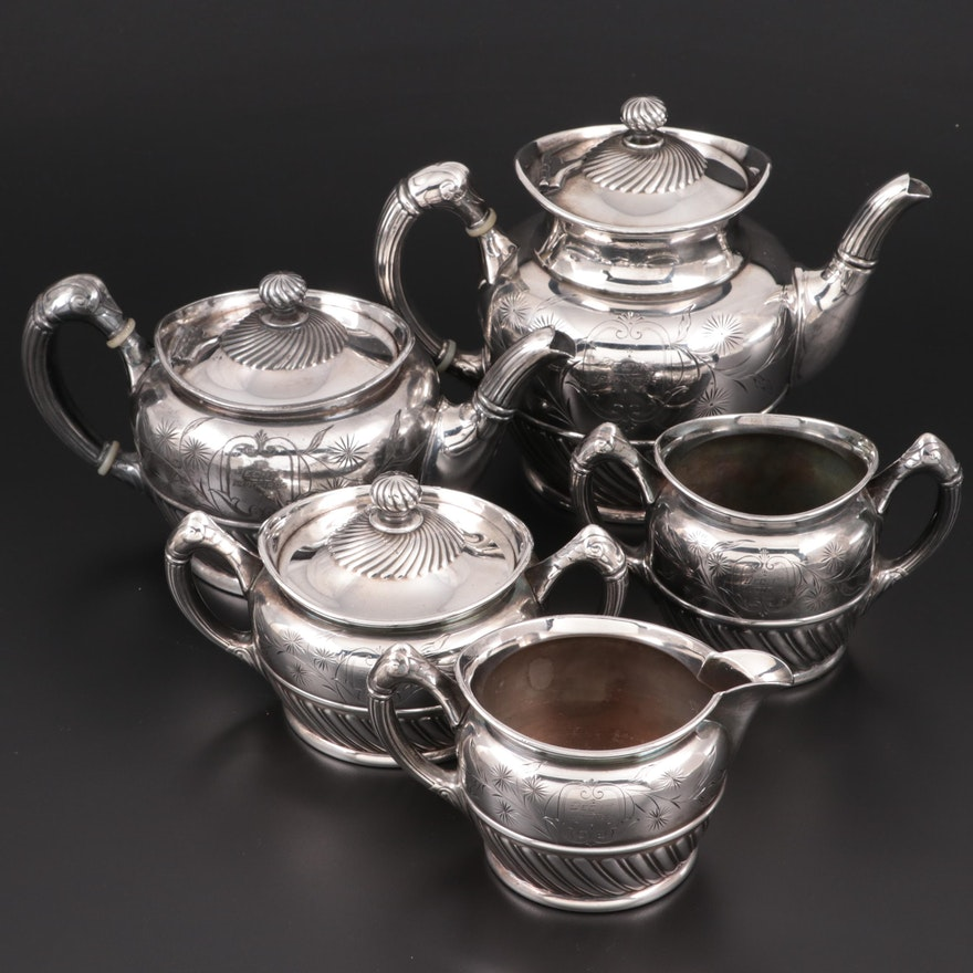 Reed & Barton Silver Plate Tea and Coffee Service, Late 19th Century