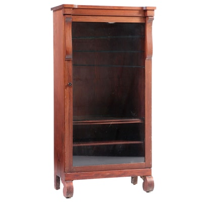 American Empire Revival Mahogany-Stained Bookcase, Early 20th Century