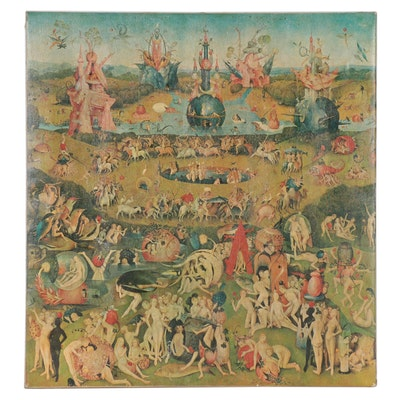 "Embellished Collotype after Hieronymus Bosch ""The Garden of Earthly Delights"""