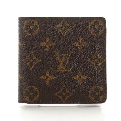 Louis Vuitton Portefeuille Marco Bifold Wallet in Monogram Canvas