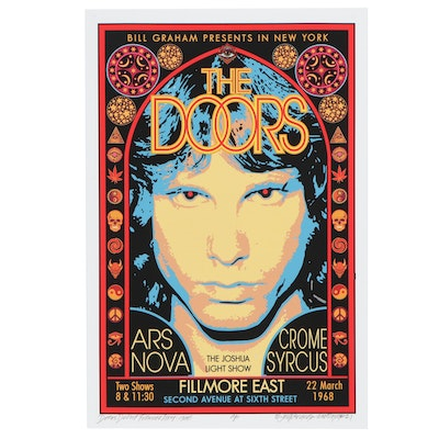 "David Edward Byrd Giclée ""Door Debut Fillmore East 1968,"" 2021"