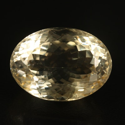Loose 53.46 CT Oval Faceted Citrine