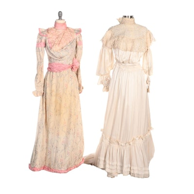Edwardian Silk Wedding and Bridesmaid Ensembles