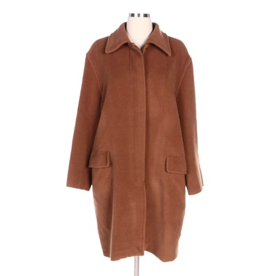Max Mara Camel Wool and Cashmere Blend Coat