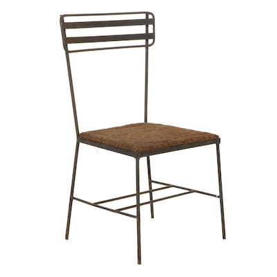 Mid Century Modern Iron Ladder Back Side Chair