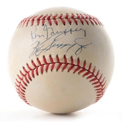 Ken Griffey Sr. and Griffey Jr. Signed Rawlings American League Baseball, COA