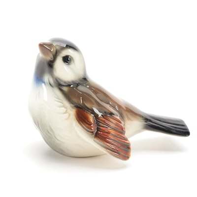 Goebel Ceramic Sparrow Figurine, Mid-20th Century