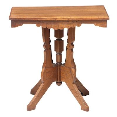 Victorian Poplar Side Table, Late 19th Century