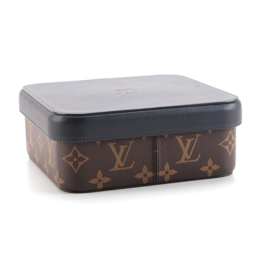 Louis Vuitton Camille GM Accessory Box in Monogram Canvas and Black Leather