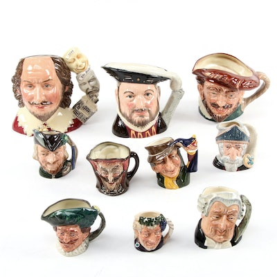 """William Shakespeare"" and More Royal Doulton Character Jugs, Mid/Late 20th C."