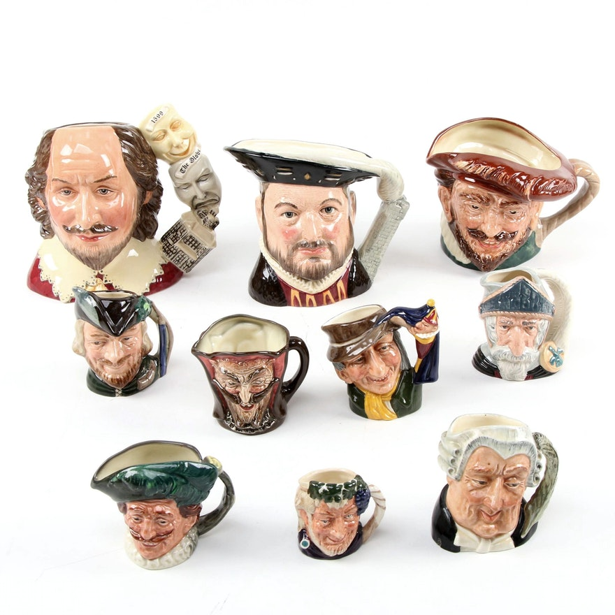 """""""Mephistopheles"""" and More Royal Doulton Character Jugs, Mid/Late 20th C."""