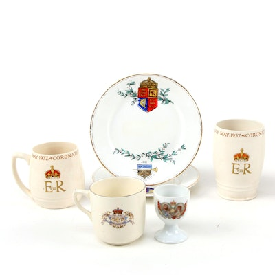 English Copeland Spode and Other Ceramic Jubilee and Coronation Souvenirs