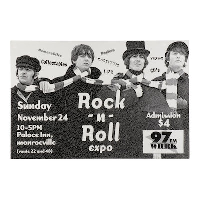 The Beatles Themed Commemorative Pittsburgh Rock 'N Roll Expo Poster