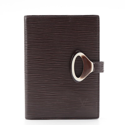 Louis Vuitton Agenda Fonctionnel Z Cover in Moka Epi Leather