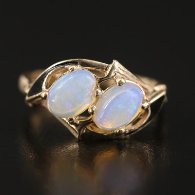 Vintage 10K Opal Moi et Toi Ring