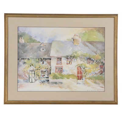 "Offset Lithograph after S. E. Routledge ""Summer on Honeybrook Lane"""