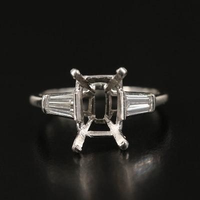 Platinum Semi-Mount with Diamond Shoulders