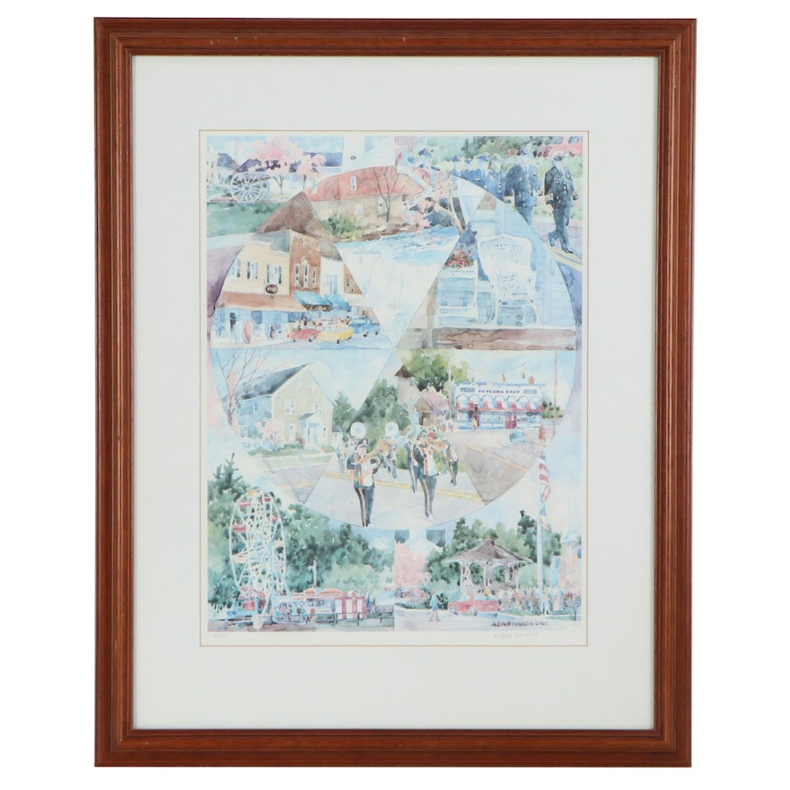 A. Dale Harsh Offset Lithograph of Scenes Around Chagrin Falls