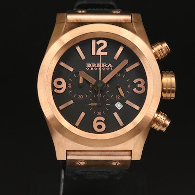 Brera Ordogi Eterno Chrono Rose Gold Tone Stainless Steel Quartz Wristwatch