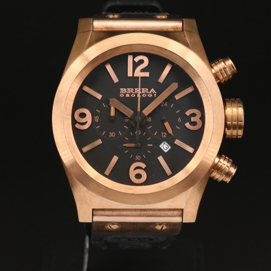 Brera Ordogi Eterno Chrono Rose Gold Tone Stainless Steel Quartz Wristwatch
