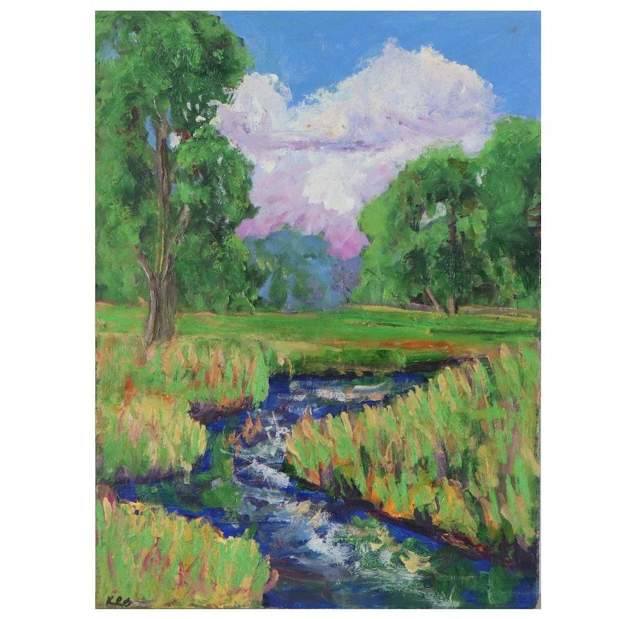 Kenneth R. Burnside Landscape Oil Painting, 21st Century