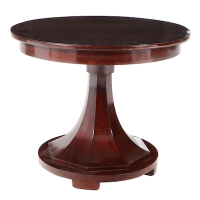Biedermeier Pedestal Center Table, 19th Century