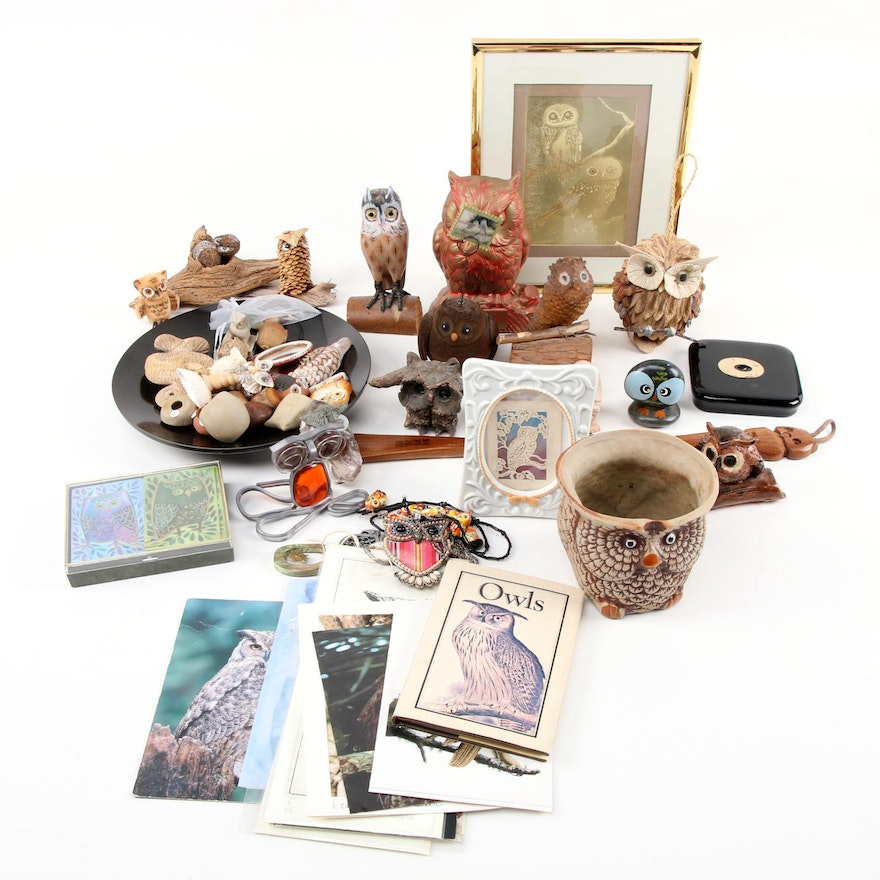 Owl Figurine and Table Décor Collection