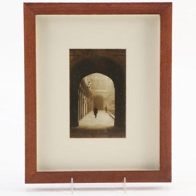 "Offset Lithograph after Derek Langley ""Christ Church,"" Late 20th Century"