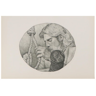 "Marvin Hayes Etching ""Judas,"" Late 20th Century"