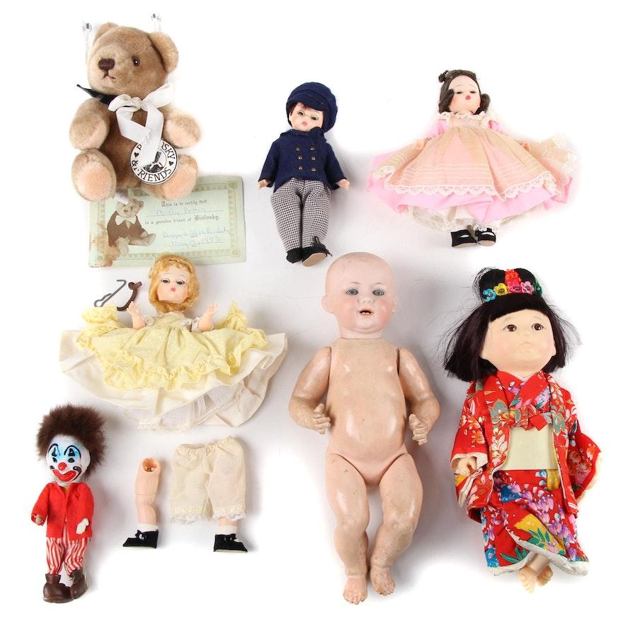 Madame Alexander, Bialosky Dolls, Stuffed Bear, and More